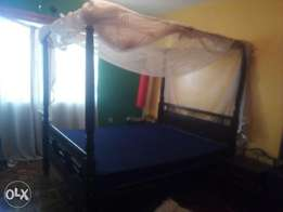 5*6 master bed with net poles(bed + mattress)
