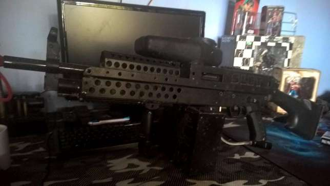 Tippmann A5 Paintball Marker With Full SAW Body Kit and ETrigger Goodwood - image 3