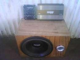 Subwoofer with box,amplifier and crossover combo