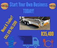 Start your own business with SABS approved trailers