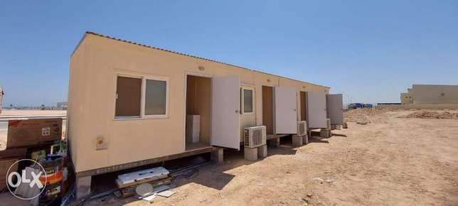 4 room Cement Board Firated Labor Accommodation Cabin