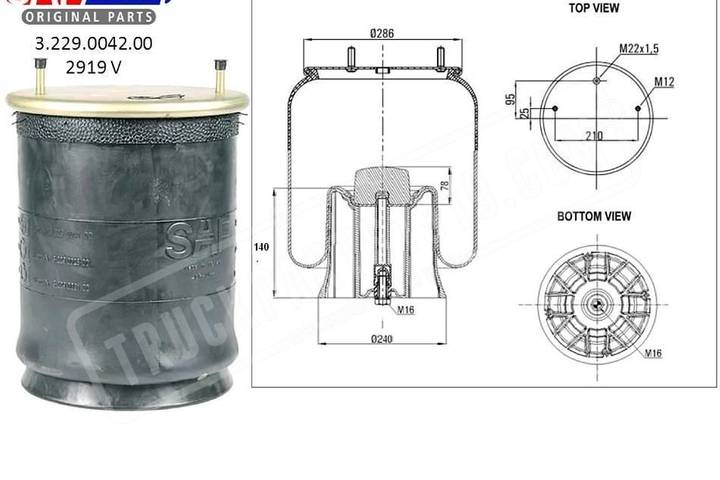 SAF New  air spring for truck - 2018