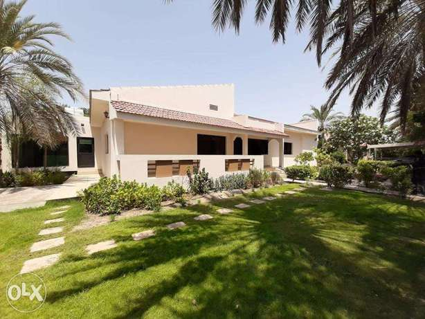 single story large villa with private garden close to Saudi causeway