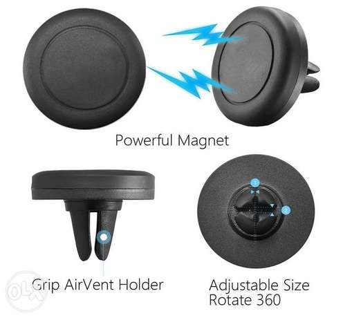 360 Degree Universal Car Holder Magnetic Air Vent Mount for Smartphone Nairobi West - image 3