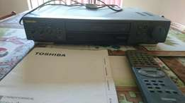 Toshiba VCR + almost 100 tapes