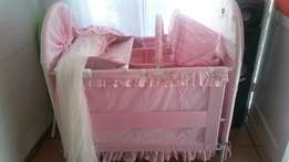 Pink Chelino 6 in 1 cot