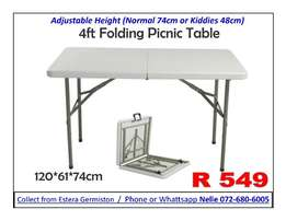 1.2m Picnic Folding Table