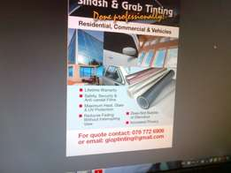 Window Tinting for all types of flat glass, windows and doors