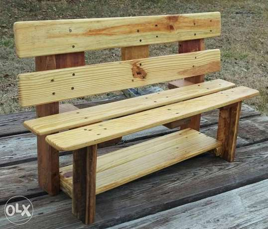 Wood outdoor styling banche بنك خارجي خشب سميك