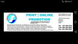 PRINT Business / Company for sale. Promotion / Gifts / Media / Clothes