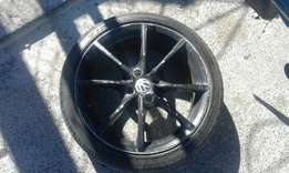 "17"" Vw rim up for grabs"