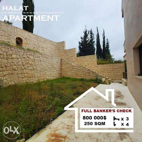 Apartment in a calm area for sale in Halat. REF#BJ16018
