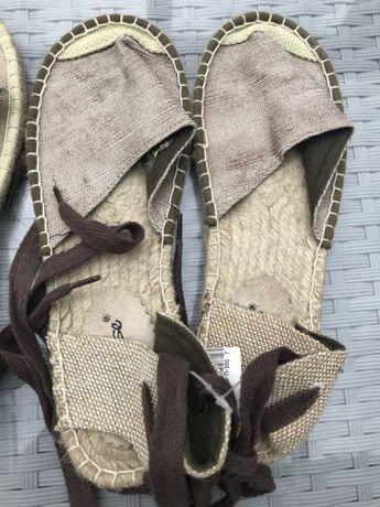 Buty damskie sandały rzymianki na sznurku rozm 39 Ponikwa
