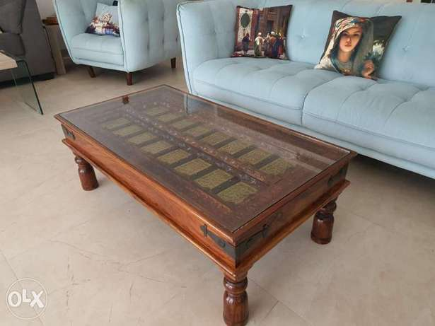 Authentic old door coffee solid table from marina furniture