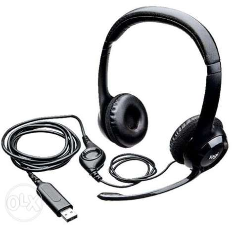 Logitech USB wired headset stereo headphones w/ noise cancellation jap