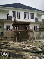 Brown New Semi Detach Duplex4sale at Chevy View Estate.Lekki 65m