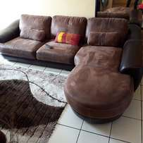 SIERRA H213 2PCE CHAISE L/S CHOC/BRN *I* in Couches - Lounge