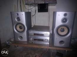 Working perfect and powerful audio set with two speaker at affordable