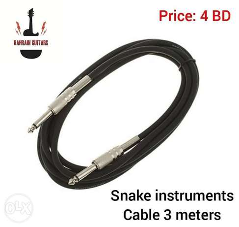 New 3 meters snake instruments cable available in stock.