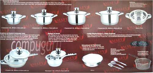 21-PCS Mafy Swiss Pot Set R1 499 Including Delivery (Up to 50%OFF) Johannesburg CBD - image 2