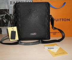 85bdf01e78d6e Skorzana męska torba Listonoszka Louis Vuitton, skóra, Francja LV 143