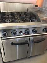 Industrial Freestanding Cooktop and Grill