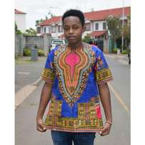Dashiki short sleeved shirt