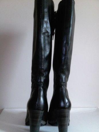 Kozaki muszkieterki damskie rozmiar 37,skóra naturalna