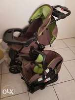 Pram with Iso-fix car seat