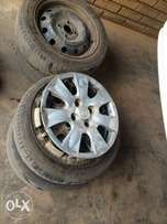165/60/14 steelies and tires