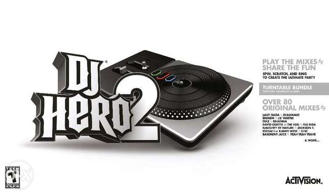 PS3 - DJ Hero 2 - Turntable & Game