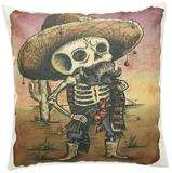 Throw pillow Day of the Dead Male
