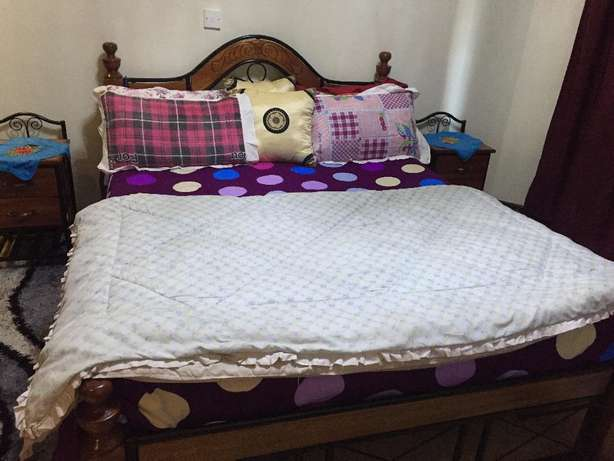 comfy huge bed of 5x6 with the mattress Kileleshwa - image 2