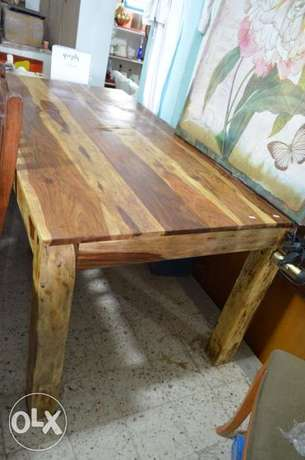 solid wood tek table dining