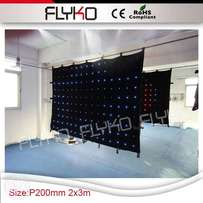 P18cm flashing blinking lights led stage effect led light curtain scre