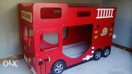 Fire engine bunk bed