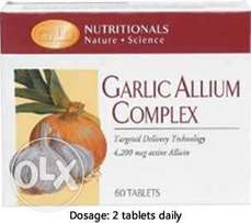 Garlic allium complex food supplement