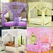 Mosquito nets with treated nets and Firm metallic Stands on offer