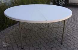 153CM Round Folding Tables RETAILS: R1300 our price: R800