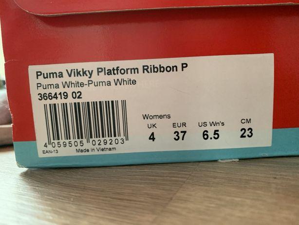 Buty PUMA Platform Ribbon białe 37 Łódź Bałuty • OLX.pl