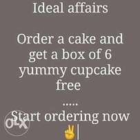 Order for a cake and get a box of 6 cupcakes free