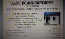 NO DEPOSIT - Wendy Houses / Nutec Houses / Vibe Houses