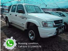 2003 hilux 2.7 d/c 4x2 this bakkie is very clean.