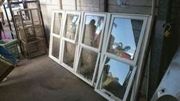 Large windows with glass