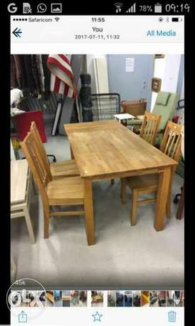 Solid wood matching tv cabinet, coffee table, dinning tables Nairobi CBD - image 5