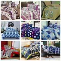 Warm cotton duvets with one matching bedsheet and 2 pillowcases