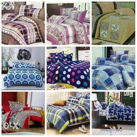 Warm cotton duvets with one matching bedsheet and 2 pillowcases Kitengela - image 1