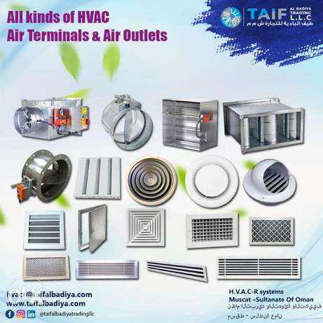 AC Grilles ,Diffusers,Louvers,Dampers and Air Outlets