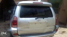 A clean foreign used Toyota 4Runner SUV YR2005 model