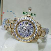 Rolex iced gold wristwatch,we deliver anywhere in nigeria